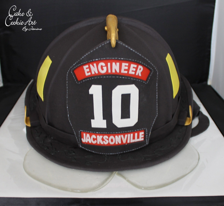 Firefighter helmet cake fire fighter cake custom cakes