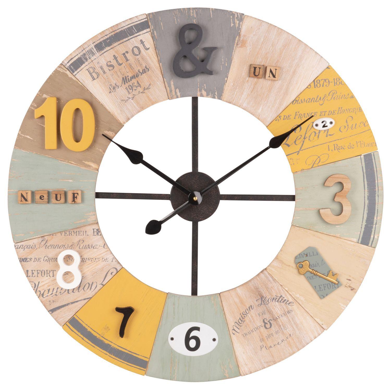 Horloge Multicolore A Relief Sur Maisons Du Monde Piochez Parmi Nos Meubles Et Objets Deco Et Faites Le Plein D Ins Mobilier De Salon Maison Du Monde Horloge