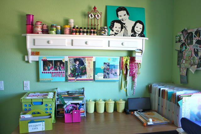 Sunny Side Up: Scrapbook room organization