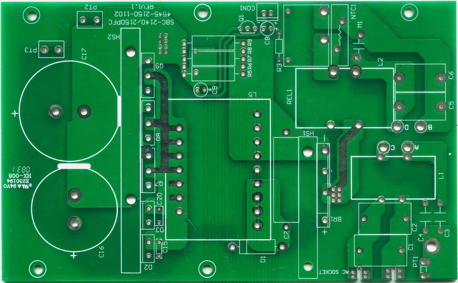 Fr4 Pcb Board Printed Circuit T Boardsled Boardled Buy Led Light Different Types Of Boards Green Soldermask On Top And Bottom