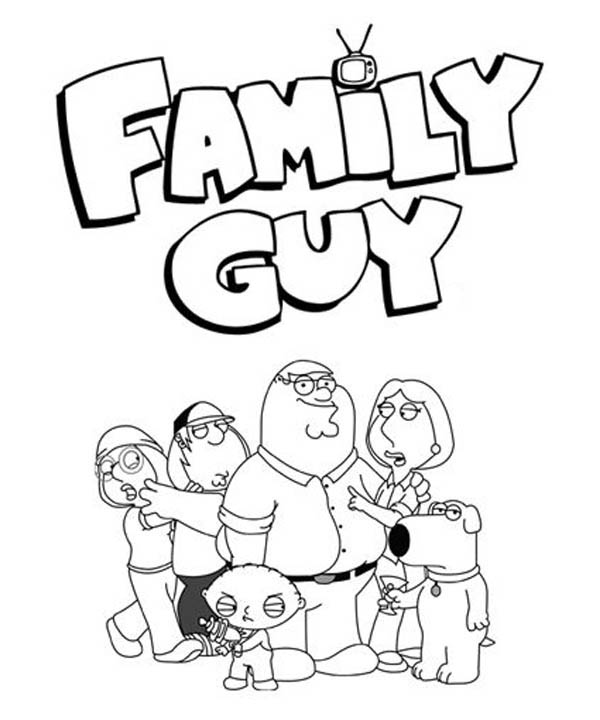Awesome Family Guy Poster Coloring Page Kids Play Color Coloring Books Coloring Pages Coloring Pages To Print