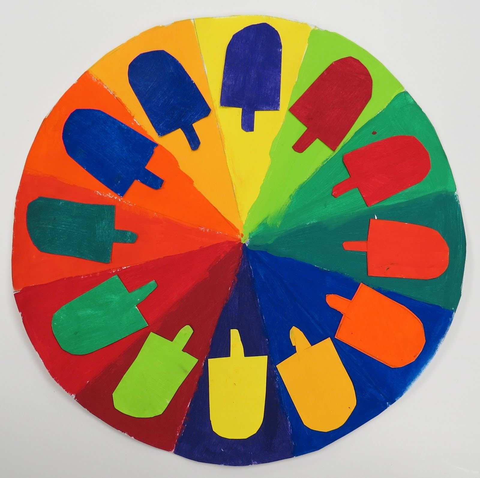 Elementary Art Color Wheel Complementary Colors
