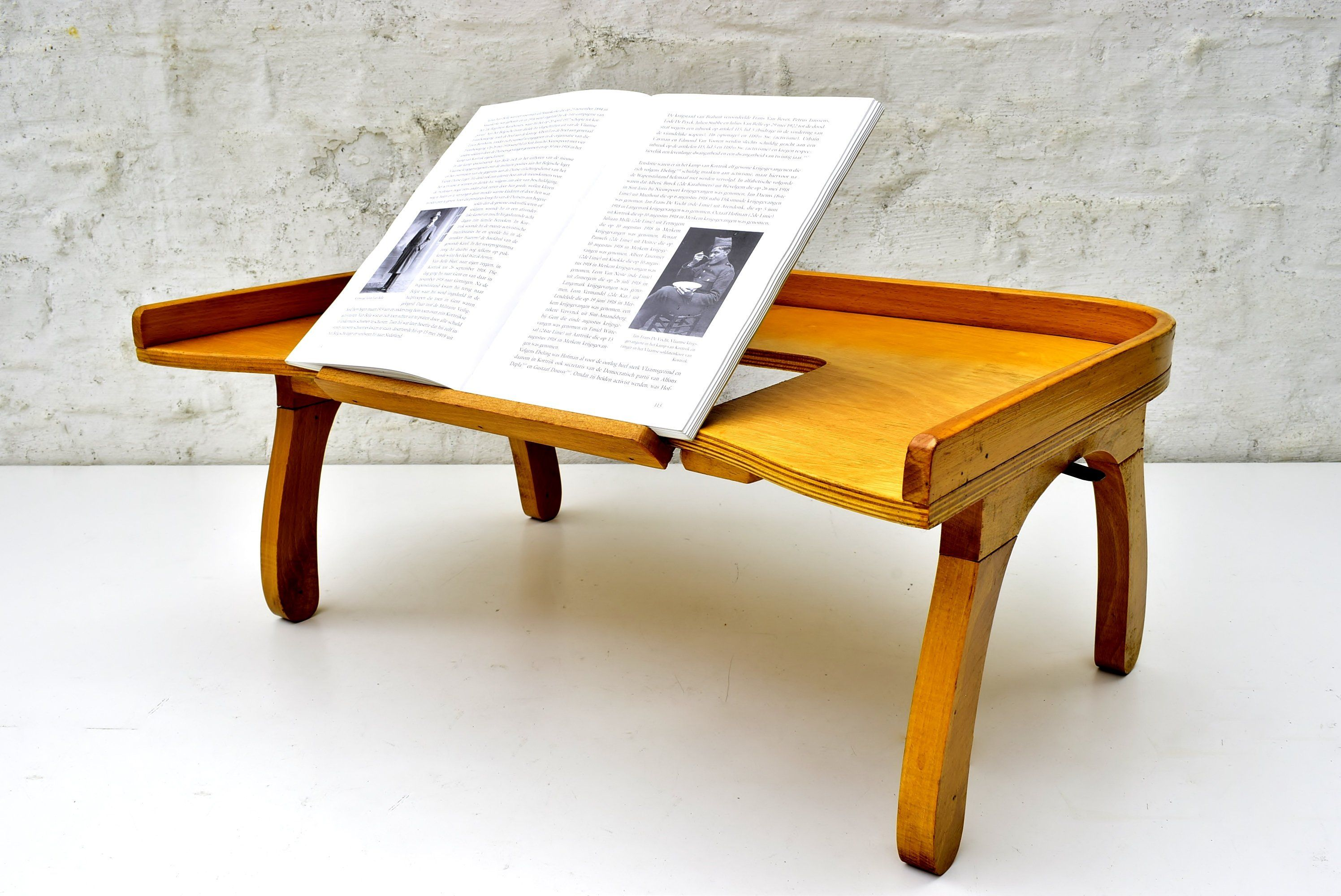 Vintage Bed Tray With Books Stand Retro Design Folding Breakfast Tray With Legs Fifties Large Reading Table In Beech Wood 1950s Decor Vintage Bed Bed Tray Book Stands