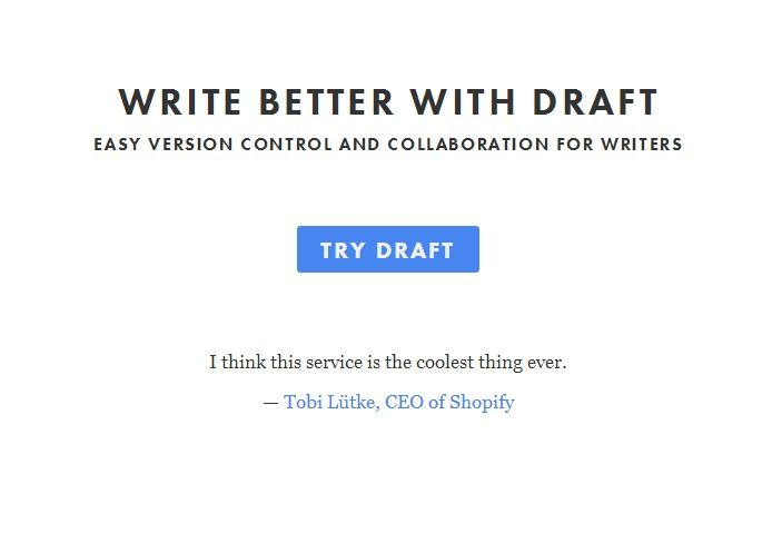 This is a really nicely designed collaborative text editor which makes tracking and marking up changes much more transparent and easier to handle than tools like Google Docs or Word.