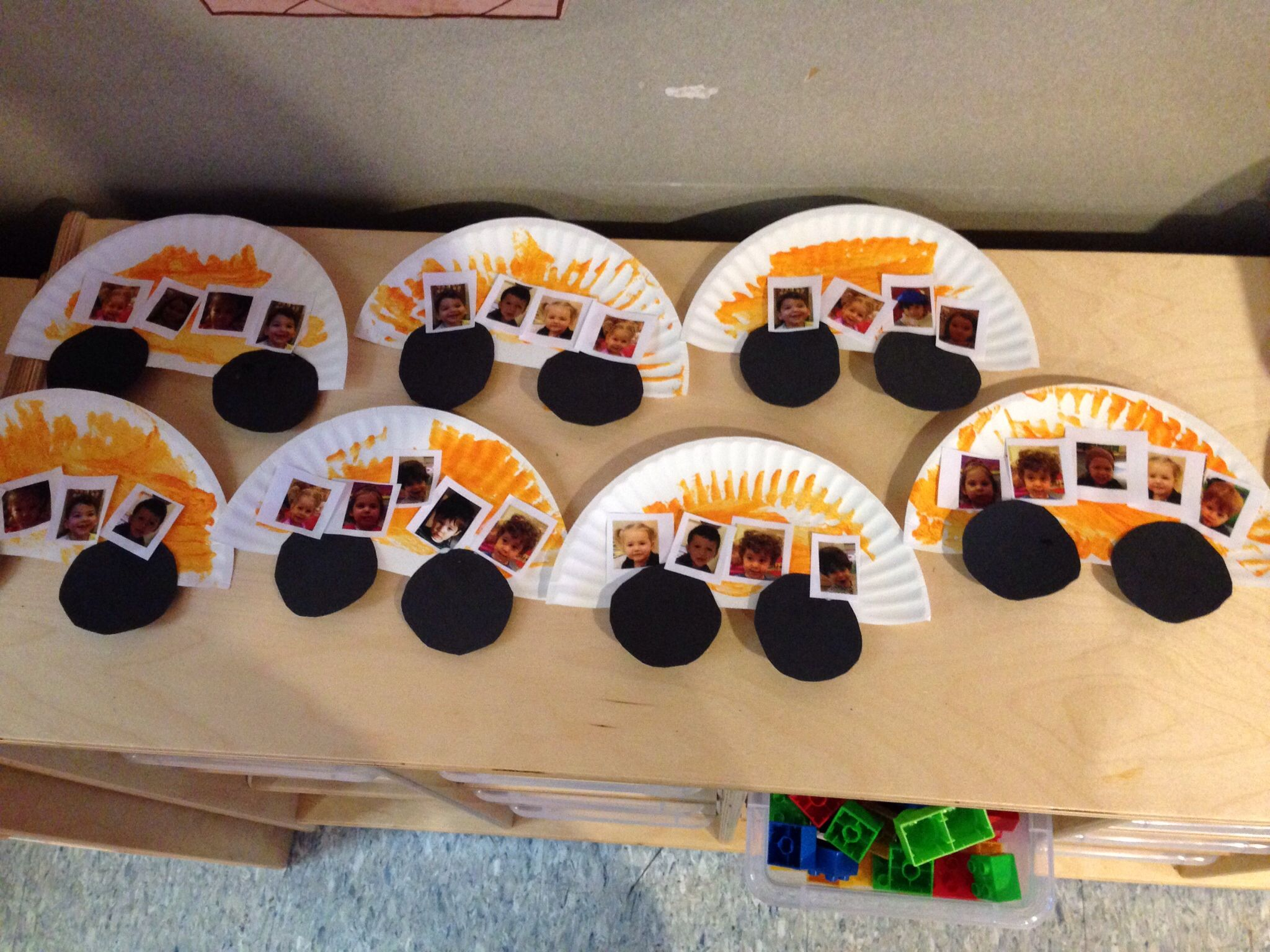 Easy School Bus Art For 2 Year Olds Half A Paper Plate