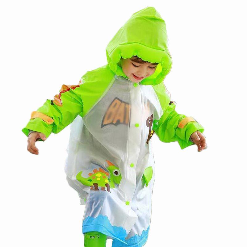 c0d833509 Kids Rain Jacket Children Raincoat Boys Girls Waterproof Poncho Cute ...