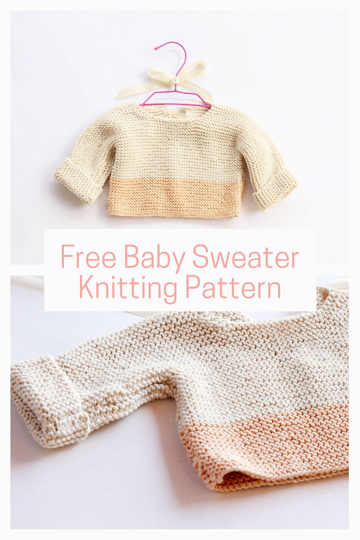 081af4d533b7 Free baby sweater knitting pattern.