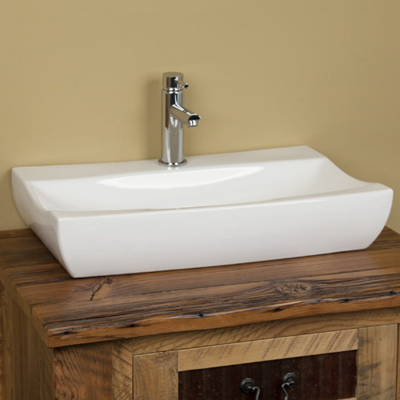 Crandell Rectangular Porcelain Vessel Sink