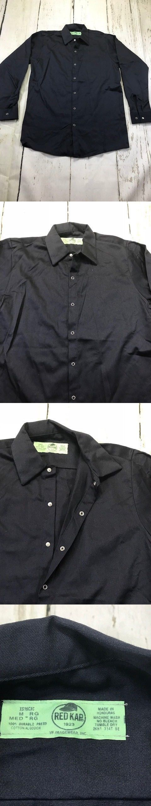 Black Red Kap Men/'s Pocketless Core Polo Work Shirt