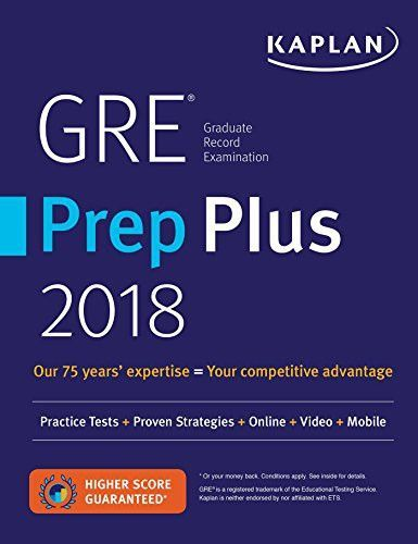 Gre Study Book >> Gre Prep Plus 2018 Practice Tests Proven Strategies