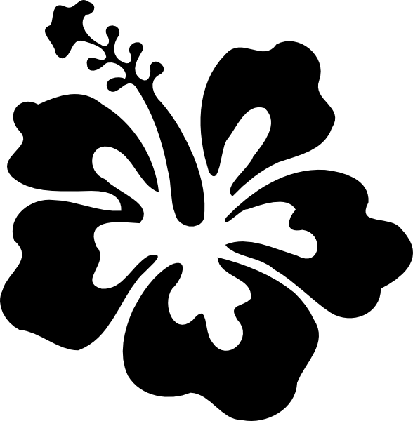 Hibiscus Simple Black Clip Art Vector Clip Art Online Royalty Flower Drawing Design Flower Drawing Hawaiian Flower Drawing