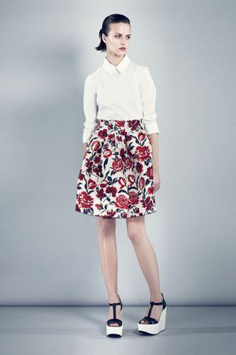 Modern minimalism meets baroque florals -  Jil Sander Navy