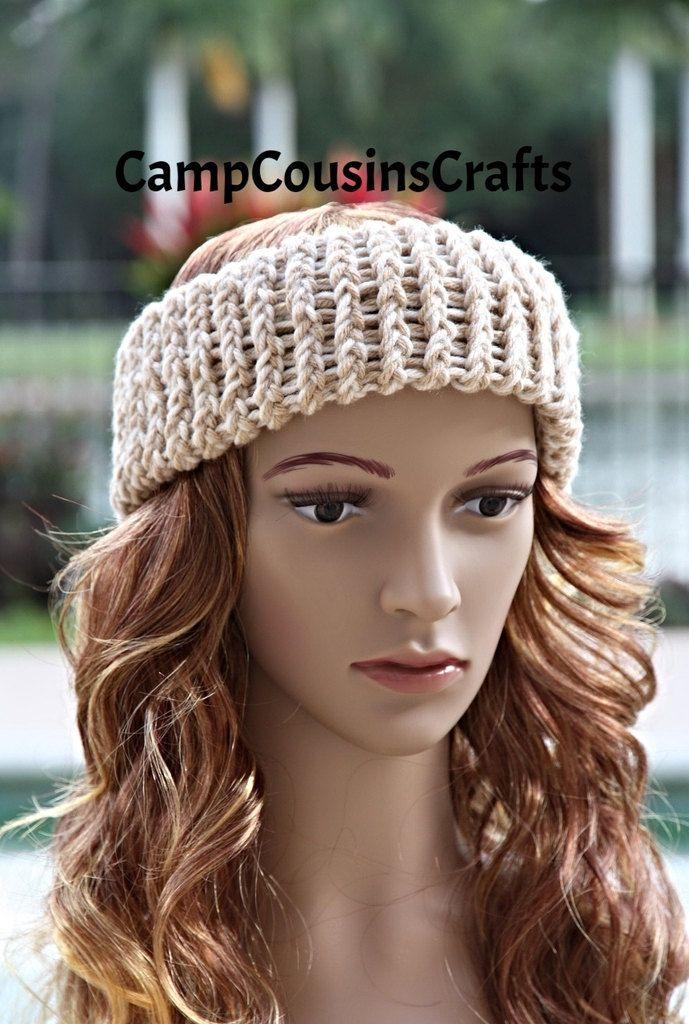 Tan Knit Headband Knit Ear Warmercream Knit Headbandbrown Knit