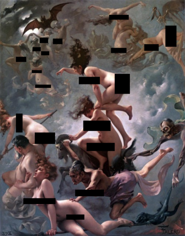 Censorship - Originally I read that art was allowed, though nude photography was not. After I posted the image with a painted nude and a photographed one, I've heard several people say that fine art images have been removed too. So this is perhaps the future of how we view of classic art on Pinterest?
