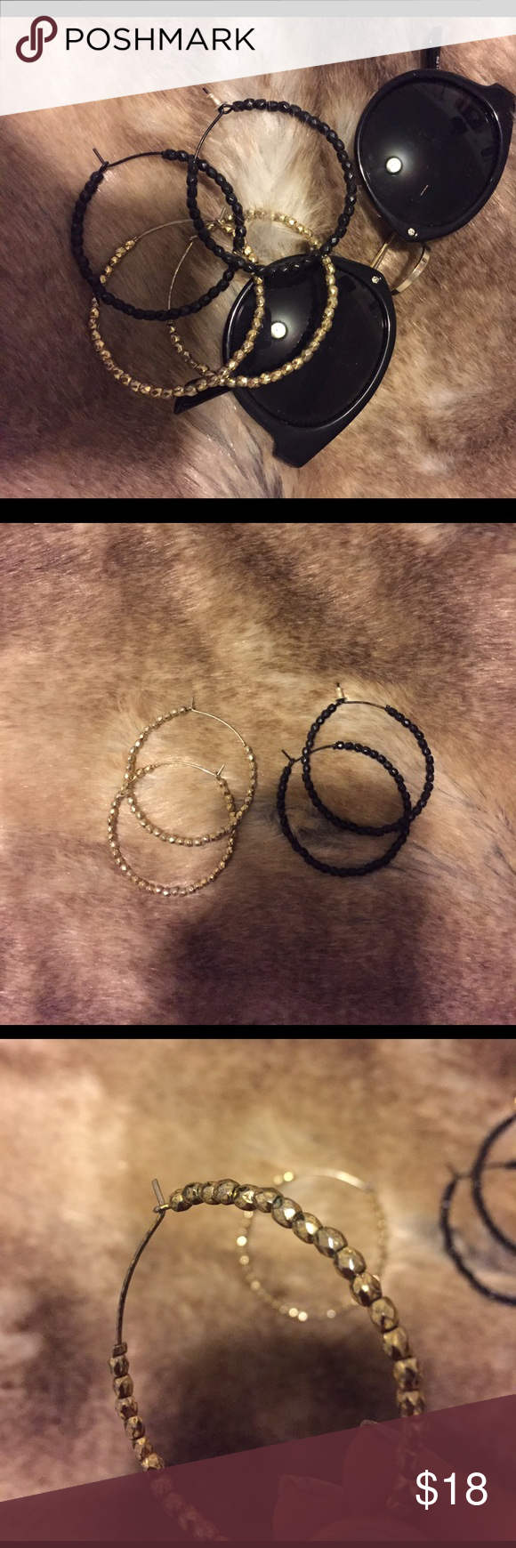 BUNDLE! 2 Pairs Express Hoop Earrings EUC Express Jewelry Earrings