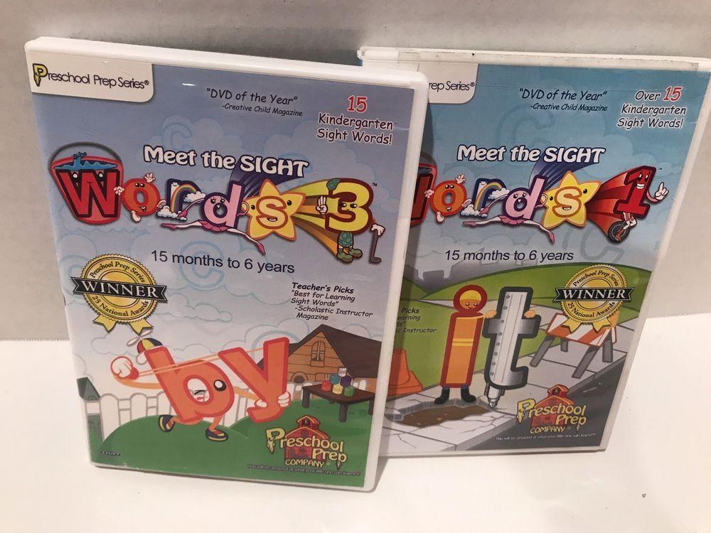 Lot Of 2 Preschool Prep Series Meet The Sight Words 1 Words 3