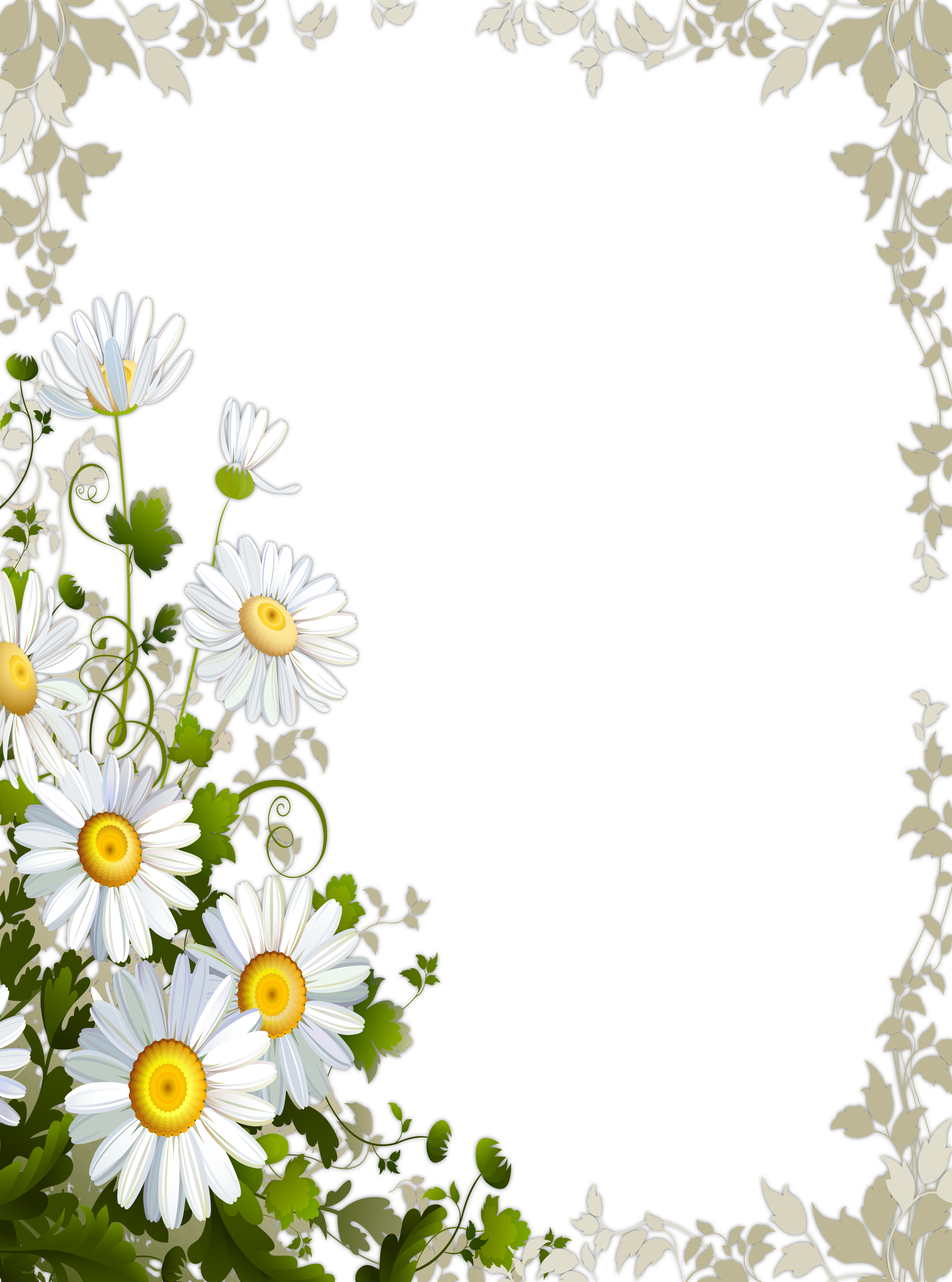 Transparent frame with daisies gallery yopriceville high transparent frame with daisies gallery yopriceville high quality images and transparent png free clipart izmirmasajfo