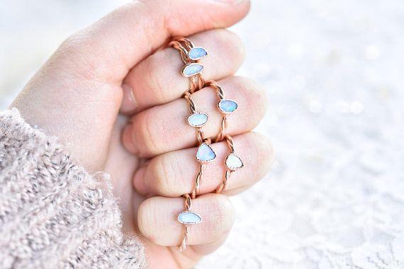 Opal ring  Opal doublet ring  Firey opal ring  Australain
