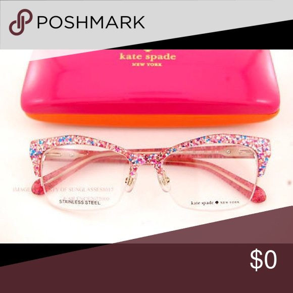 8894a70ad32 Kate spade lyssa eyeglasses Looking for these frames in glitter pink!  Please let me know if you see it for sale or are selling! Thank you!