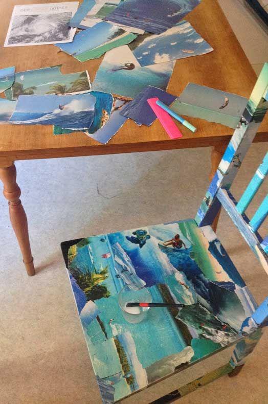 Diy Diy S Diy Chair Decoupage Furniture Et Art Studio Decor