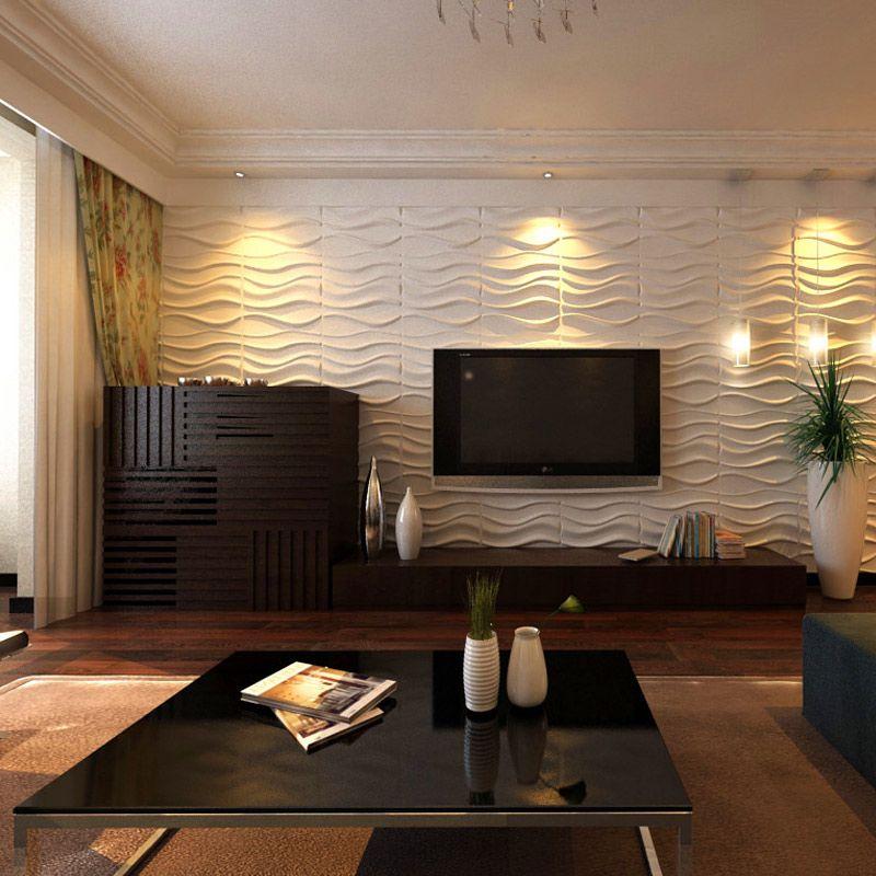 A21031 Decorative 3d Wavy Wall Panels 19 7 X19 7 White 12 Tiles 32 Sf 3d Wall Panels Living Room Background Wall Panels
