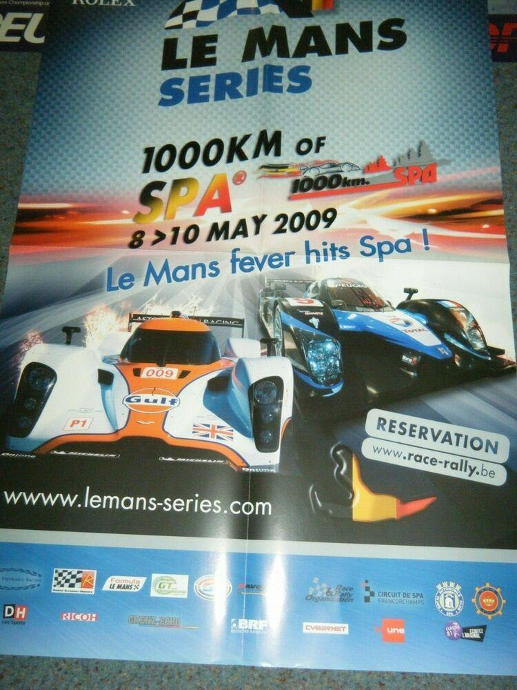 LE MANS SERIES 2009 SPA 1000KM POSTER ASTON MARTIN DBR1 009 PEUGEOT 908 HDI #AstonMartin