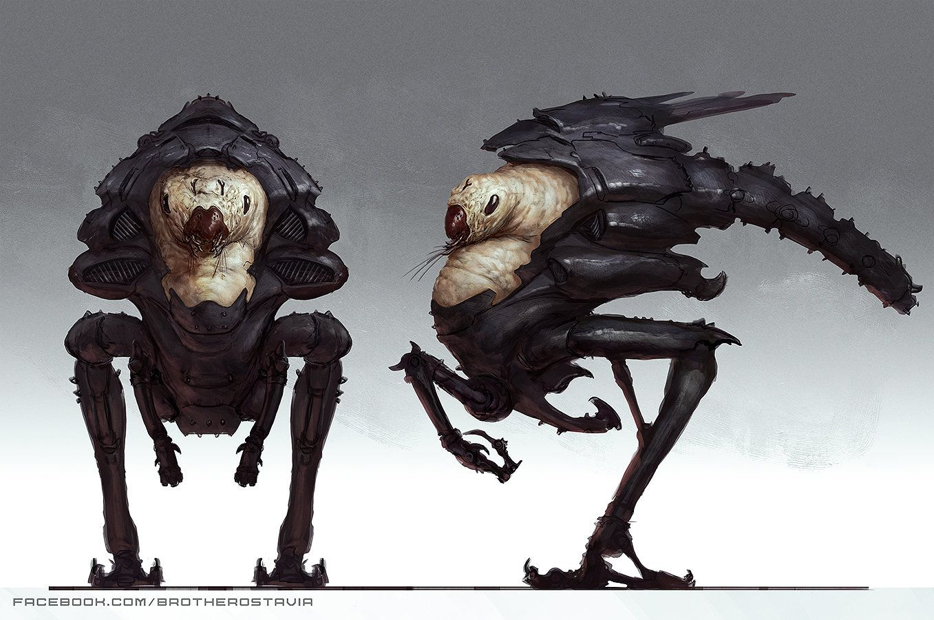 Bugged alien, Jonathan Gonzalez on ArtStation at http://www.artstation.com/artwork/bugged-alien