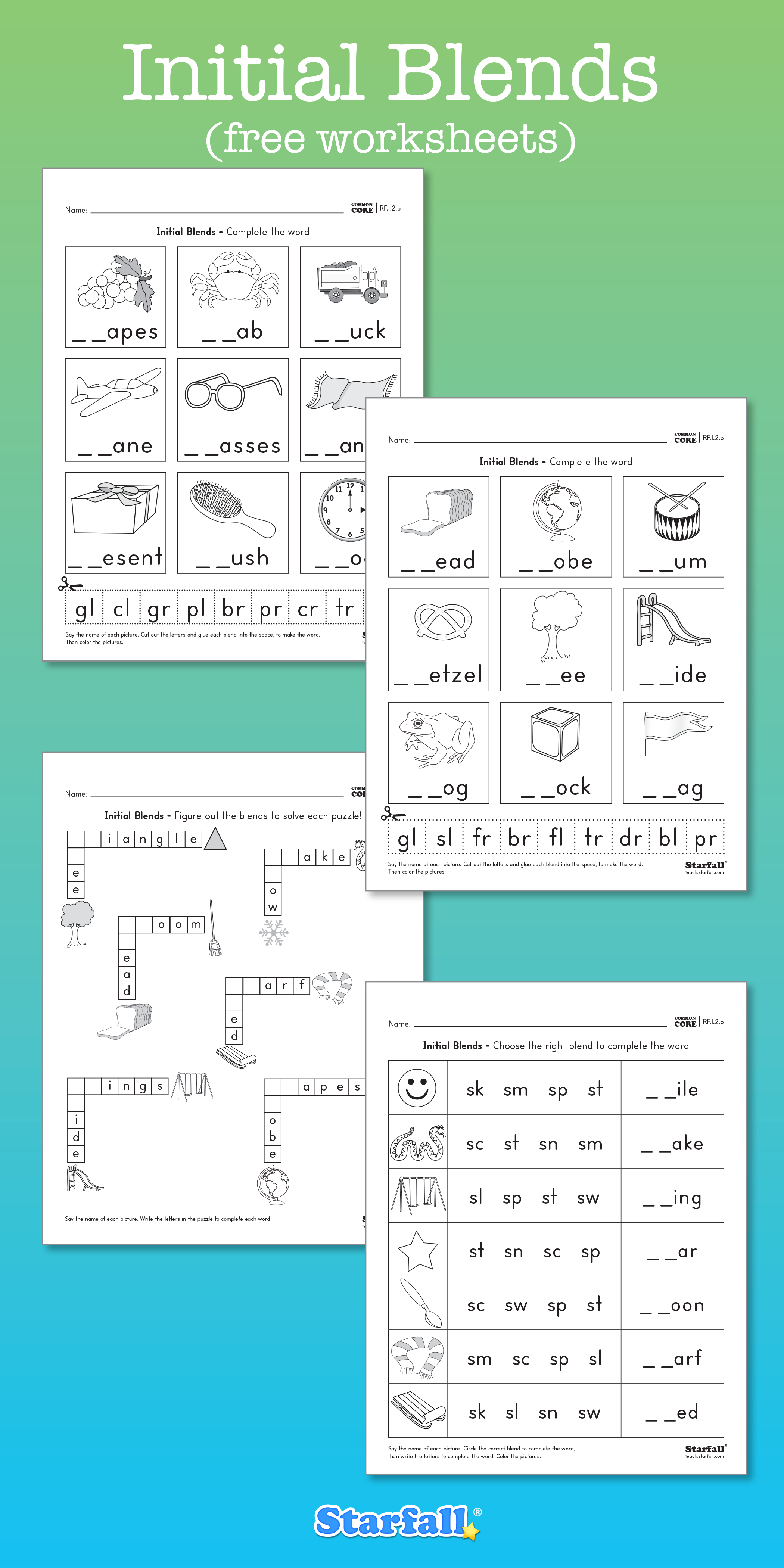 Worksheets Starfall Worksheets want to give your child some practice with initial blends check out these new downloadable
