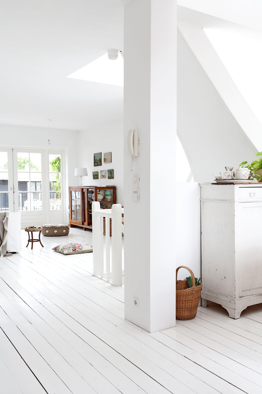 wit houten vloer in woonkamer interieur idee pinterest