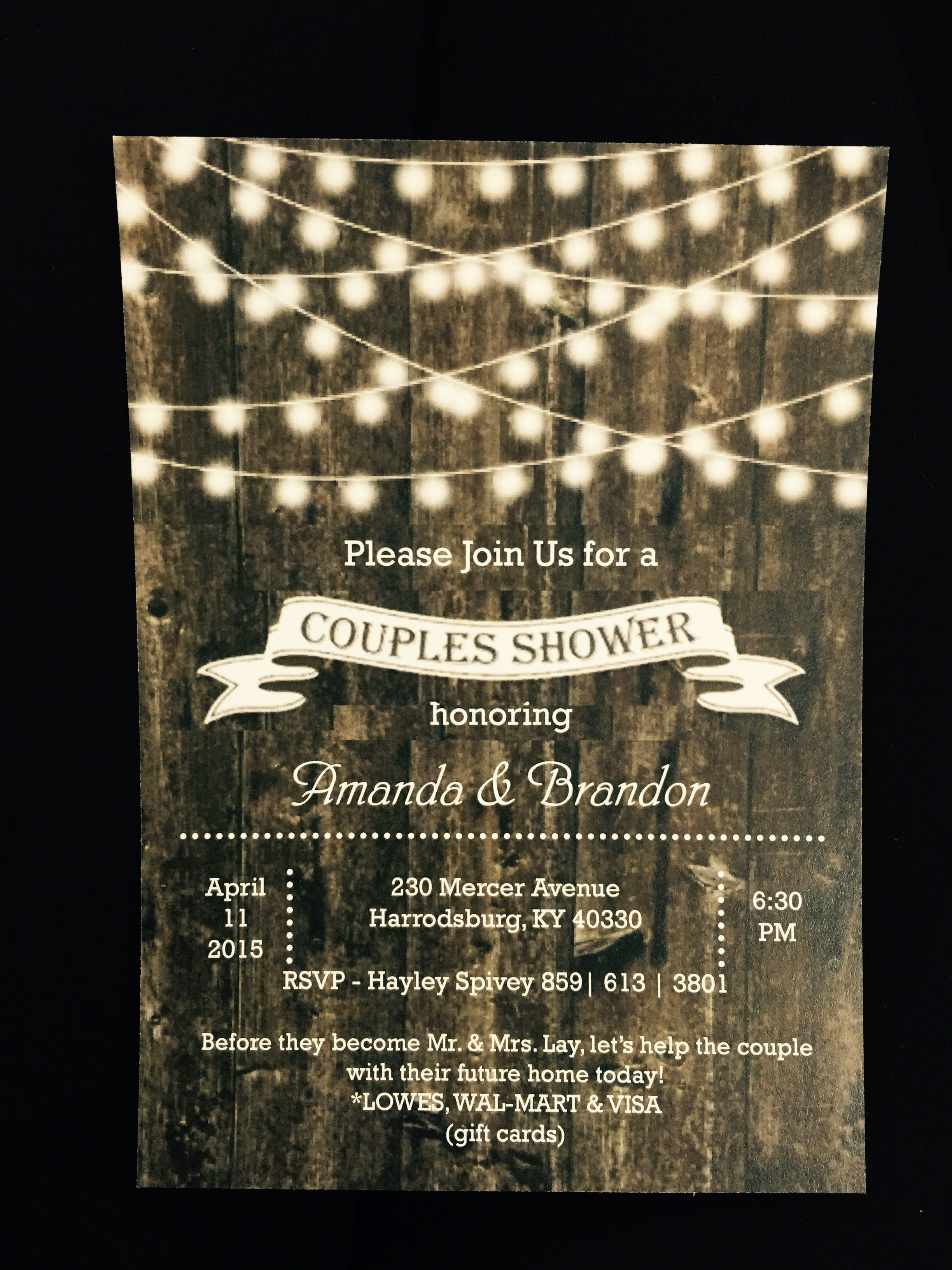 Wedding Shower Invitation Call Us 859 734 3536 For All Of Your Personalized