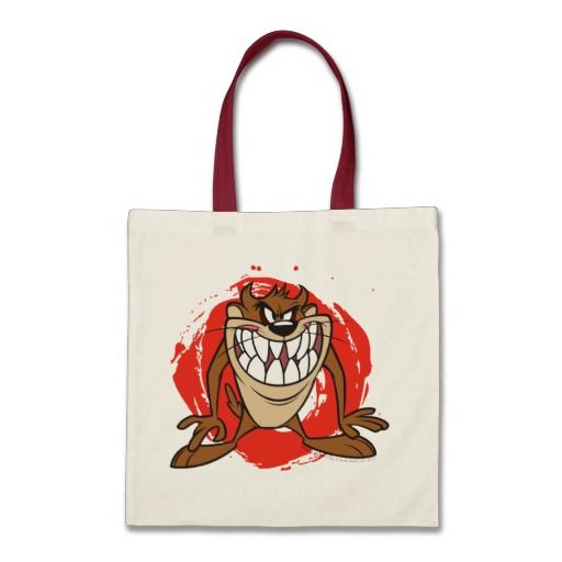 Large Grin TAZ™. Producto disponible en tienda Zazzle. Accesorios, moda. Product available in Zazzle store. Fashion Accessories. Regalos, Gifts. #bolso #bag #LooneyTunes