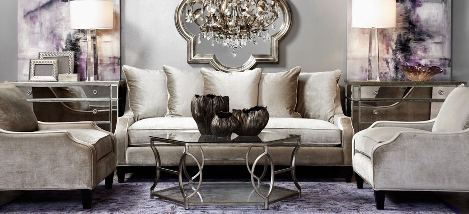 Our Elegant Living Room With Accents Of Aubergine Is Popular With Pinners