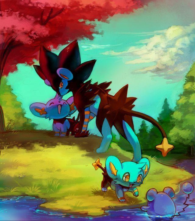 Kleine Luxios Und Ein Luxtra Als Fanilie So Suss Pikachu Bilder Pokemon Kunst Pokemon Bilder