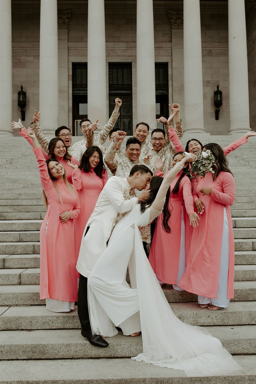 Vietnamese Wedding Ao Dai Bridal Portraits Vietnamese