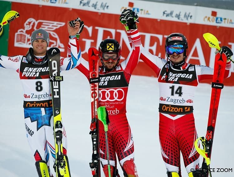 Very Selective Race In Zagreb Ending With The Win Of Marcel Hirscher Ahead Of Alexispinturault And Manuel Feller Official Congra Zagreb Congrats World Cup