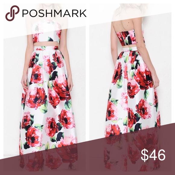 Two Piece Set Gorgeous crop top and skirt set. Dresses Maxi