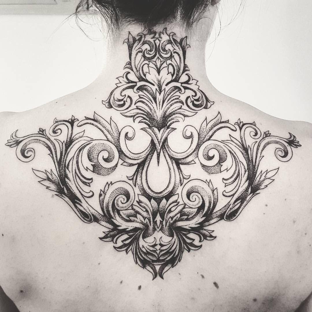 My Ornemental And Baroque Tattoo Samanthadottori Lyon France Baroque Tattoo Filigree Tattoo Neck Tattoo