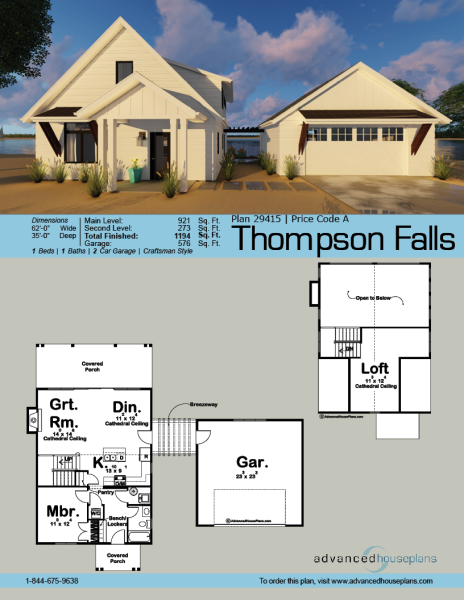 1 5 Story Modern Farmhouse Cottage Cabin Thompson Falls Modern Farmhouse Plans House Plans Farmhouse Farmhouse Plans