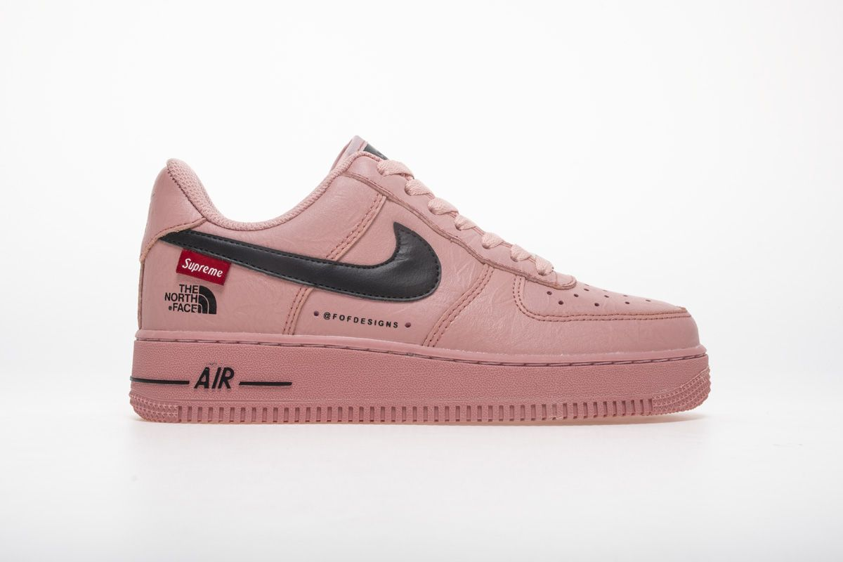 10ebef3c42b05 Nike Air Force 1 x Supreme x The North Face AR3066-800 Pink Sneaker3 ...