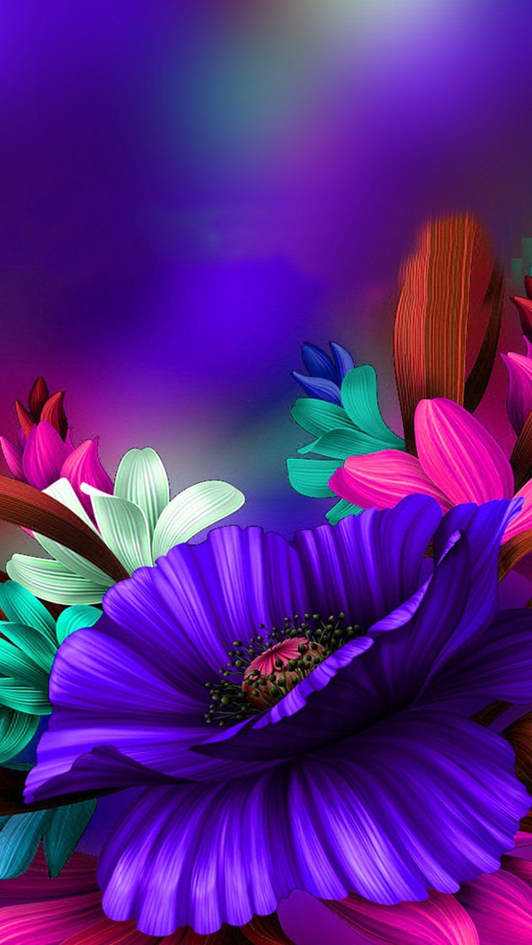 Wallpaper Flower art, Flower wallpaper, Flower painting