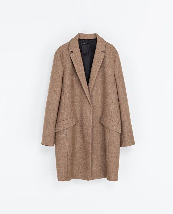 Zara Woman Wool Blazer Coat I Tried It On It Looks So Good However It S So Prickle Too Zara Mantel Zara Mantel
