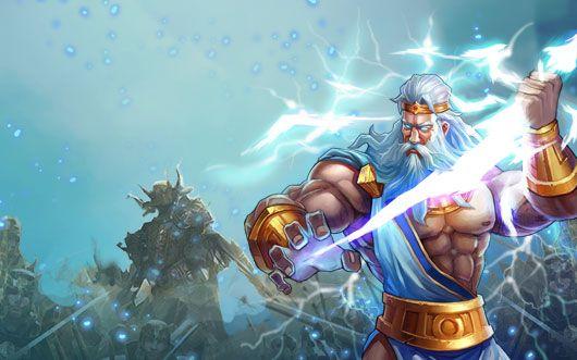 Zeus With Lightning Bolt