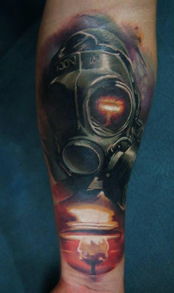 Chronic Ink Tattoos Toronto Tattoo Shop: Toronto Tattoo Gas Mask Tattoo By