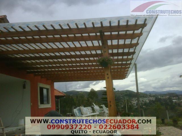 Somos fabricantes de toda clase de cubiertas metalicas - Estructuras de madera para techos ...