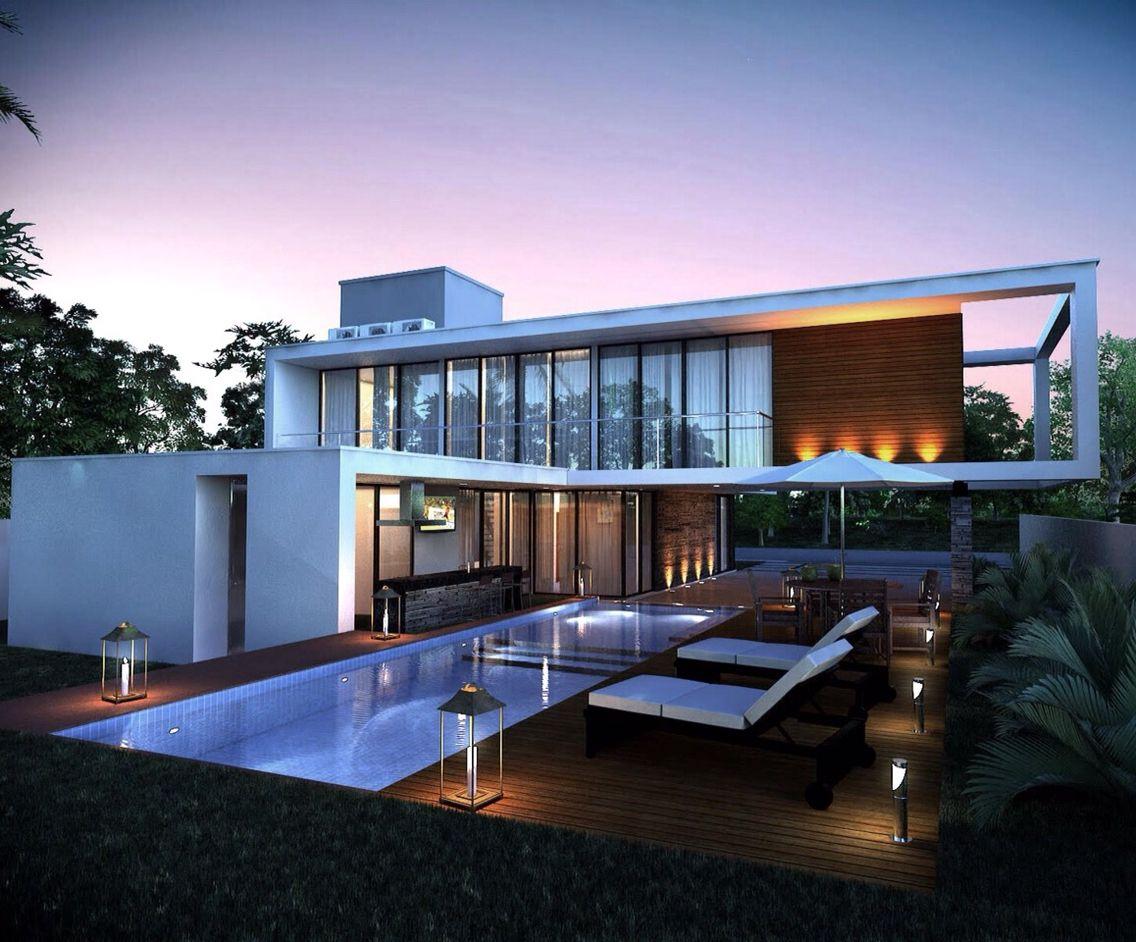 Os vidros valorizam um visual clean, moderno e todo o projeto ...