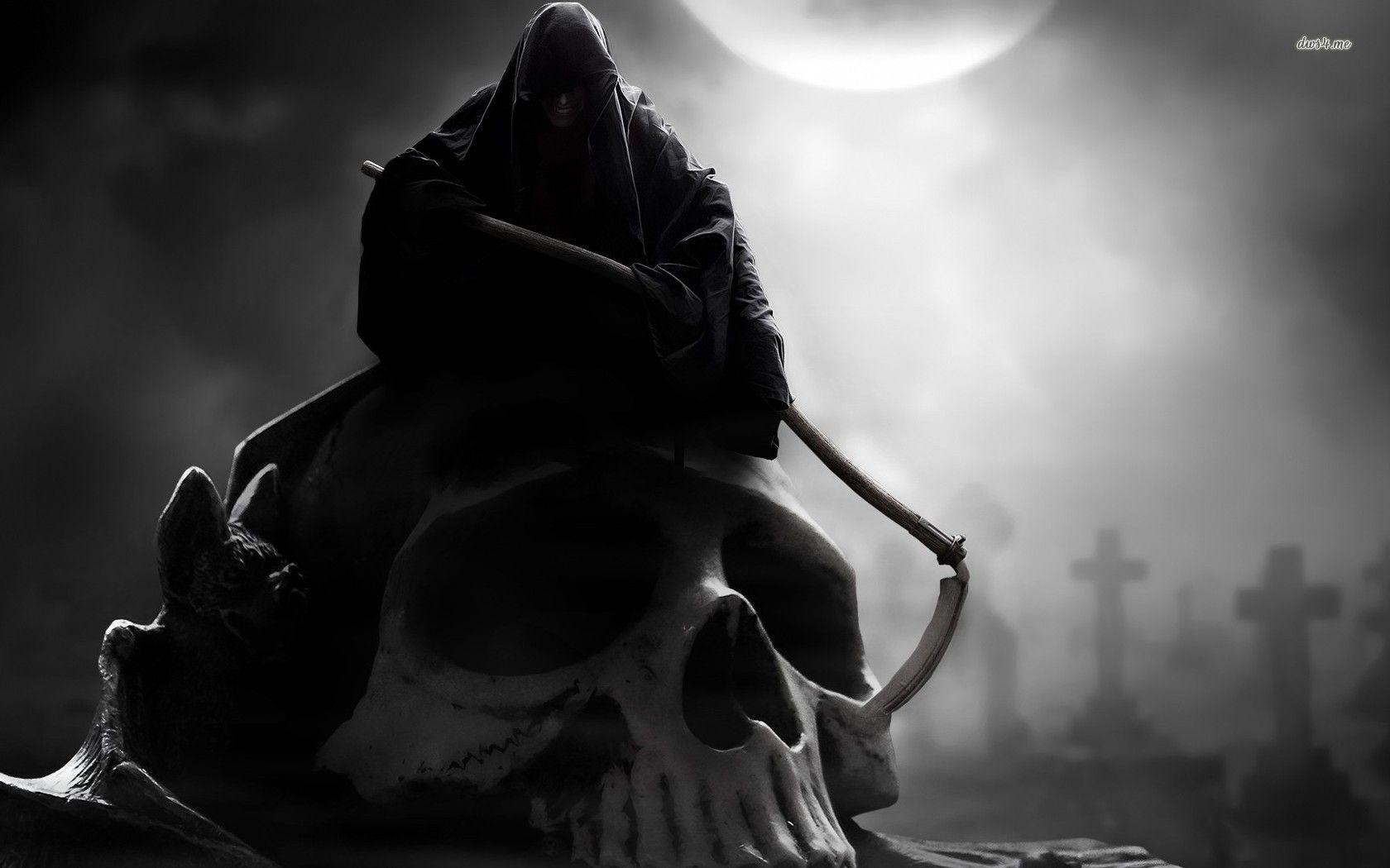 Grim Reaper Hd Wallpaper Grim Reaper Reaper Skull Wallpaper