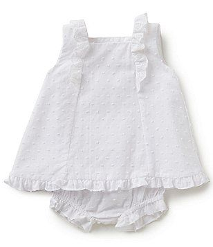 7fcb885759 Edgehill Collection Baby Girls 3-24 Months Ruffled Dress With Panty ...