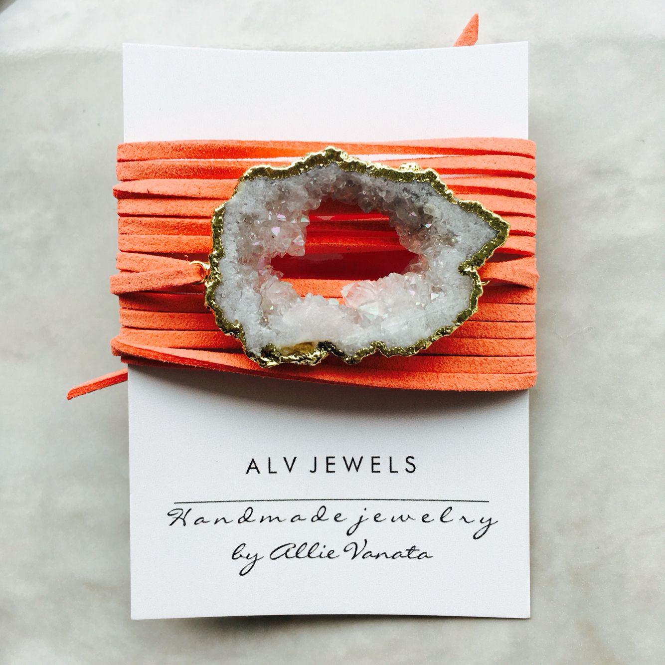 White on coral wrap bracelet   IG: @alvjewels to order: alvjewels.com
