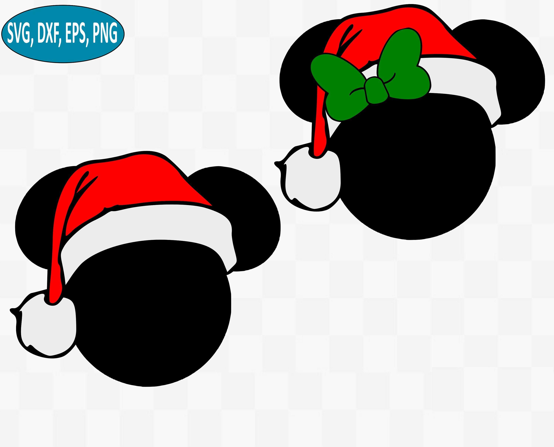 Mickey and Minnie Christmas SVG Bundle, Disney Christmas