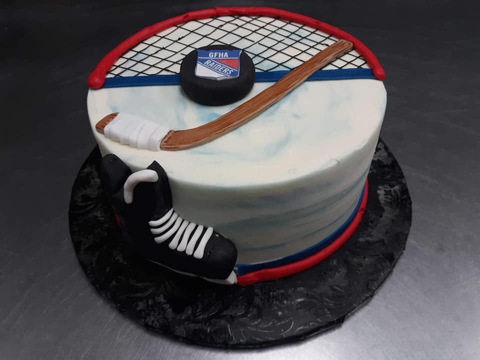 Hockey Cake Nhl Cake Ohl Cake Hockey Player Cake Birthday Cake Hockey Birthday Cake Hockey Hockey Birthday Cake Hockey Cakes Hockey Birthday